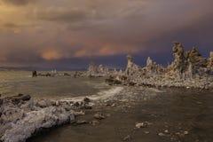 单音加利福尼亚的湖 库存照片