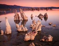 单音加利福尼亚的湖 免版税库存图片