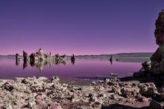单音外籍的湖 免版税库存图片