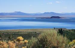 单音湖的横向 库存照片