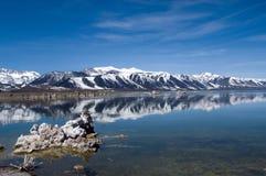单音的湖 库存照片