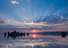单音的湖 免版税图库摄影
