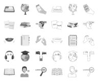 单音的翻译和的语言学家,在集合收藏的概述象的设计 口译员传染媒介标志股票网 向量例证