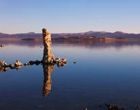 单音神仙的湖 免版税库存图片