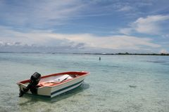 卖力海岛 免版税库存图片