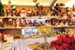 卖圣诞节玩具 库存照片