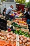 卖在市场的菜在普罗旺斯,法国 图库摄影