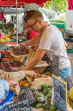 卖在市场的菜在普罗旺斯,法国 库存图片