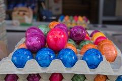 卖在街市上的鸡蛋 库存图片