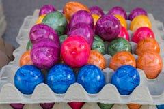 卖在街市上的鸡蛋 免版税库存图片