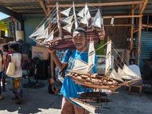 卖帆船的模型摊贩 图库摄影