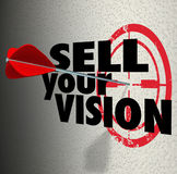 卖您的视觉词箭头目标介绍计划战略 库存例证