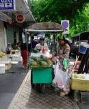 卖果子的供营商在曼谷,泰国 库存图片