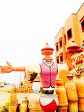 卖瓦器在摩洛哥 库存图片