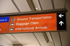 卖票,报到和乘客提取标志 免版税库存图片