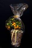 卖花人构成用桔子 库存照片