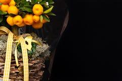 卖花人构成用桔子 图库摄影