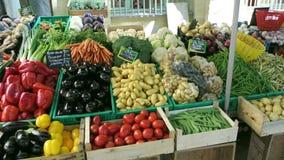 卖花水果和蔬菜的街市在法国 股票视频