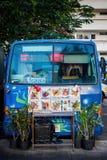 卖食物的微型货车 免版税图库摄影