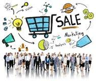 卖财务收支货币收入付款概念的销售销售 库存照片