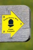 南下来方式在东萨塞克斯郡,英国 免版税图库摄影