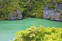 南中国海泰国kh盐水湖和水 库存照片