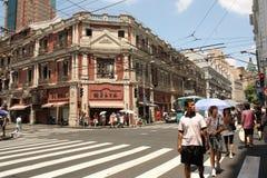 南京路上海街道 库存图片