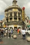 南京路在上海,中国 免版税图库摄影