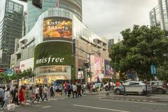 南京路在上海,中国 免版税库存图片
