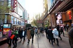 南京路步行街道在上海 库存图片
