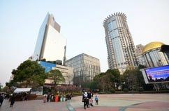 南京路步行街道在上海 图库摄影