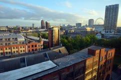 南伦敦和伦敦眼空中都市风景在backgroun 免版税库存图片