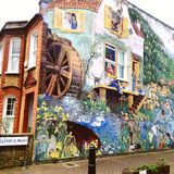南伦敦壁画墙壁 免版税库存照片