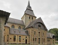 南修道院dieu laval montherme的端 免版税库存照片