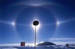 南光晕的极 库存照片