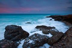 南克利特,希腊海岸。 库存照片
