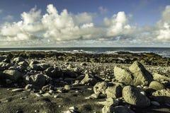 南冰岛的海岸 库存图片
