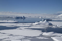 南冰洋和南极海岛在南极Peninsul附近 免版税库存照片
