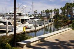 南加州太平洋游艇小游艇船坞 库存照片