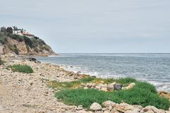 南加州沿海海滩 免版税库存照片