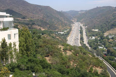 南加州高速公路 图库摄影