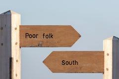 南北分界 在北部和Sout之间的经济上的分割 免版税库存图片
