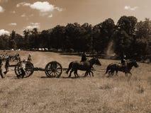 南北战争争斗再制定 库存照片