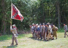 南北战争再制定 免版税库存照片