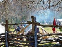 南北战争再enactors在北卡罗来纳 库存照片