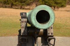 南北战争大炮,马纳萨斯全国战场公园弗吉尼亚, 2016年3月15日 库存图片