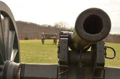 南北战争大炮,马纳萨斯全国战场公园弗吉尼亚, 2016年3月15日 免版税库存照片