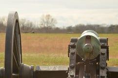 南北战争大炮,马纳萨斯全国战场公园弗吉尼亚, 2016年3月15日 图库摄影