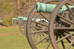 南北战争大炮,马纳萨斯全国战场公园弗吉尼亚, 2016年3月15日 免版税库存图片