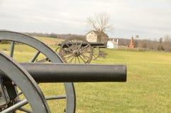 南北战争大炮,马纳萨斯全国战场公园弗吉尼亚, 2016年3月15日 库存照片